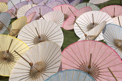 Umbrellas. Thai handmade umbrellas Royalty Free Stock Images