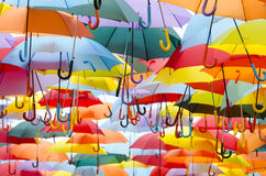 Umbrellas background Stock Photo