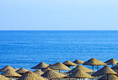 Umbrellas on beach Stock Photo