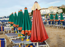 Umbrellas on the beach Stock Image