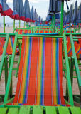 Umbrellas and beach chairs on Cha um beach Thailand. Royalty Free Stock Image
