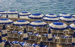Umbrellas on the beach. Royalty Free Stock Image