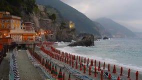Umbrellas at the beach in Monterosso al Mare