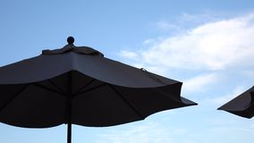 Umbrellas stock footage