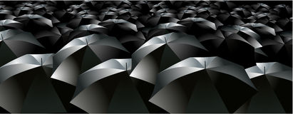 Umbrellas brollys crowd rain Royalty Free Stock Photography