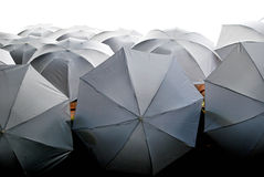 Umbrellas. A ceilling covered by umbrellas in São Paulo royalty free stock photo