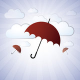Umbrellas in the Clouds Stock Photography