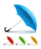 Umbrellas color set Royalty Free Stock Photo