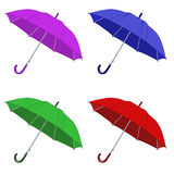 Umbrellas. Colored umbrellas isolated on white background Royalty Free Stock Images