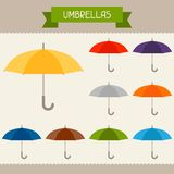 Umbrellas colored templates for your design in Stock Image