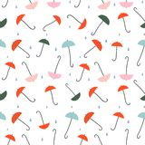 Umbrellas - colorful seamless pattern royalty free illustration