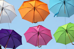 Umbrellas colorful 15 Stock Images