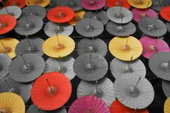 Umbrellas colorful. Umbrellas is colorful on street walking Stock Image