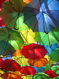 Umbrellas. Colourful display in Eastbourne, East Sussex, England,UK Royalty Free Stock Photography