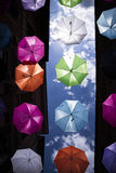 Umbrellas of different colors Royalty Free Stock Photography