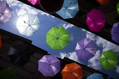Umbrellas of different colors Royalty Free Stock Photos