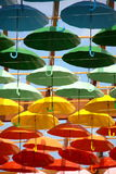 Umbrellas in different colours Royalty Free Stock Photo