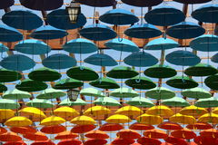 Umbrellas in different colours Royalty Free Stock Images