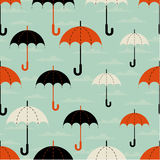 Umbrellas of the different size. Seamless texture. Autumn. Depicts the umbrellas of the different size Stock Photography