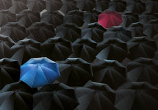 Umbrellas Drizzle Stock Images