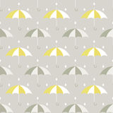 Umbrellas and drops pattern Royalty Free Stock Image