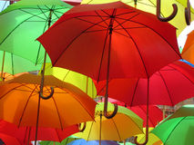 Umbrellas at Eastbourne, East Sussex, England,UK. A colourful display Royalty Free Stock Photos