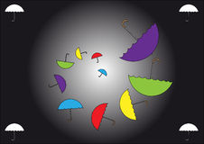 Umbrellas fal Royalty Free Stock Images