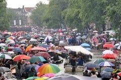 Umbrellas at GayPride 2010 Stock Photo