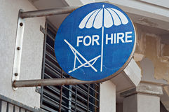 Umbrellas for hire Stock Image