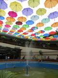 Umbrellas installation in Kota Tua, Jakarta. Colorful umbrellas installation at pedestrian underpass in Kota Tua, Jakarta, Indonesia Royalty Free Stock Photos