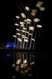The Umbrellas Installation at the new waterfront of Thessaloni Royalty Free Stock Images