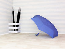 Umbrellas in the interior Stock Photo