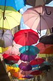 Umbrellas in Istanbul Royalty Free Stock Photography