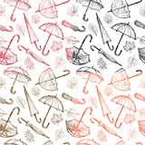 Umbrellas and leaves Royalty Free Stock Photos
