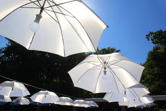 Umbrellas with light in the middle Royalty Free Stock Photo