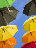 Umbrellas. Lots of umbrellas other sky Royalty Free Stock Images