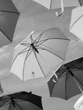 Umbrellas. Lots of umbrellas other sky Royalty Free Stock Photography