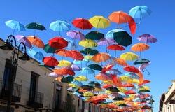 Umbrellas Madrid, Getafe, Spain Stock Photo