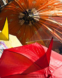 Umbrellas. Nice umbrellas with different colours Stock Images