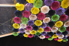 Umbrellas by night Stock Photo