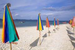 Umbrellas On The Beach Royalty Free Stock Photography