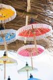 Umbrellas / Paper umbrellas colorful : Colorful umbrellas background. Umbrellas / Paper umbrellas colorful / Colorful umbrellas background stock image