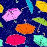 Umbrellas Pattern Royalty Free Stock Photos