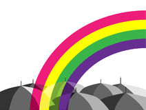 Umbrellas_rainbow Stockbild