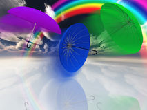 Umbrellas with rainbow Royalty Free Stock Photography