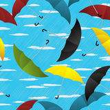 Umbrellas repeating pattern Royalty Free Stock Photography