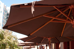 Umbrellas at Restaurant. In Boise, Idaho Royalty Free Stock Photos