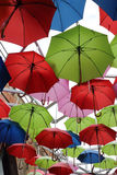 Red Green Blue Umbrellas for sale Royalty Free Stock Photos
