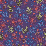 Umbrellas seamless background Stock Images