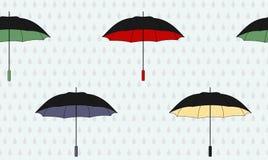 Umbrellas. Seamless background with variegated umbrellas vector illustration